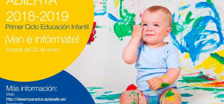 ¡¡MATRÍCULA ABIERTA!! – NIÑOS y NIÑAS DEL PRIMER CICLO DE EDUCACIÓN INFANTIL