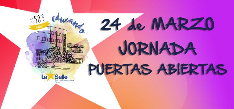 Jornada de Puertas Abiertas el 24 de marzo