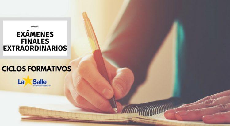 Exámenes finales Extraordinarios de 2º de Administración y Finanzas