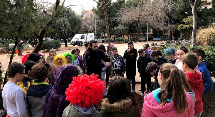 Alumnos de Primaria colaboran en la repoblación del Parque de Alborgí