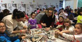 Los alumnos de 3º de Primaria preparan la Falla 2018