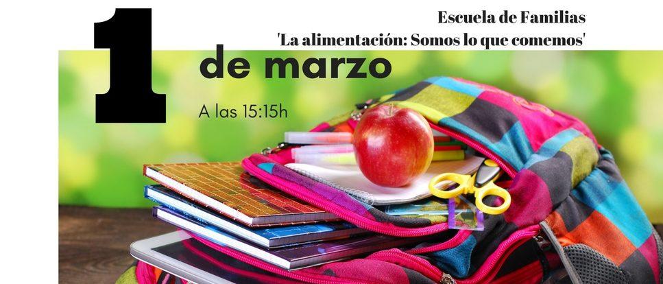 Escuela de familias el próximo 1 de marzo