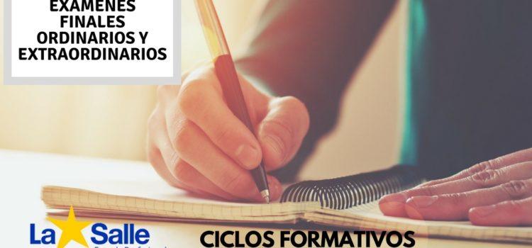 Exámenes Finales Ordinarios y Extraordinarios de 1º y 2º de Instalaciones de Telecomunicaciones