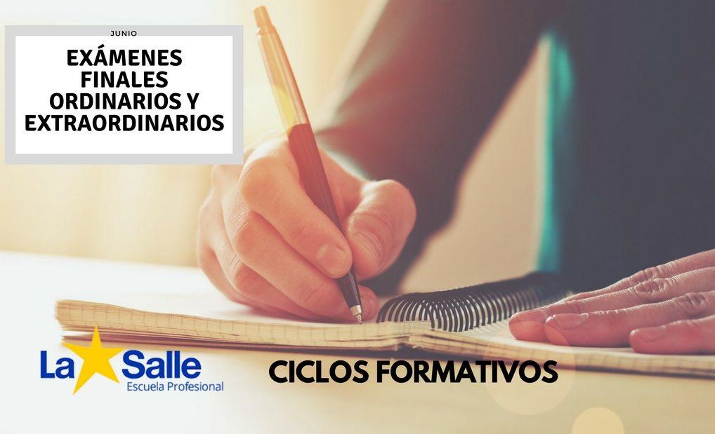 Exámenes Finales Ordinarios y Extraordinarios de 1º y 2º de EMV