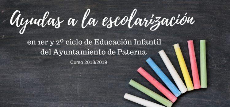 Ayudas a la Escolarización en 1er y 2º ciclo de Educación Infantil del Ayuntamiento de Paterna