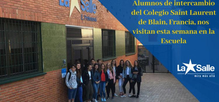 Alumnos franceses visitan la Escuela Profesional en un programa de Intercambio escolar