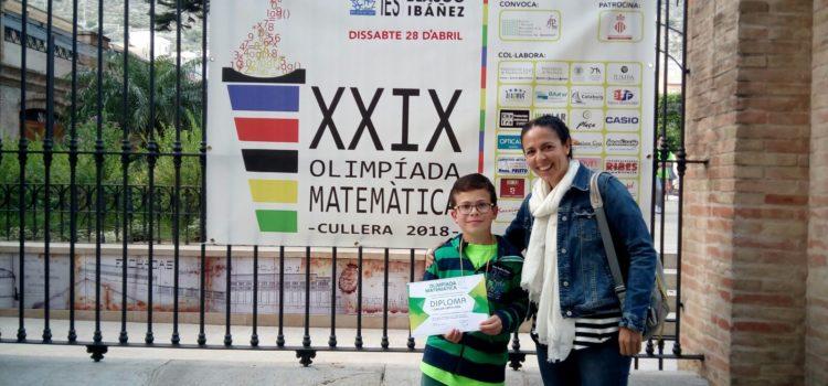Un alumno de Primaria participa en la XXIX Olimpiada Matemática