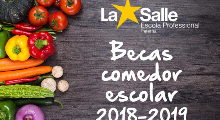 Becas comedor escolar curso 2018/2019 - Web Escuela Profesional La ...