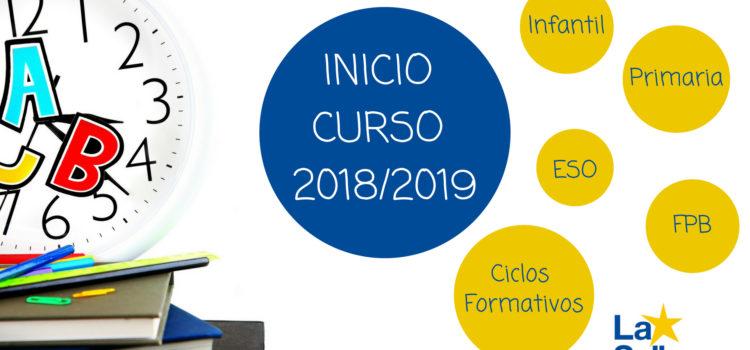 Inicio del curso 2018/2019 por etapas