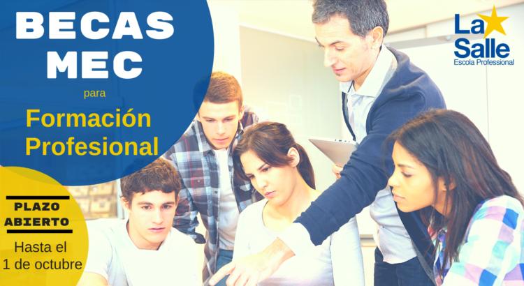 Convocatoria de becas de carácter general para estudiantes de Formación Profesional