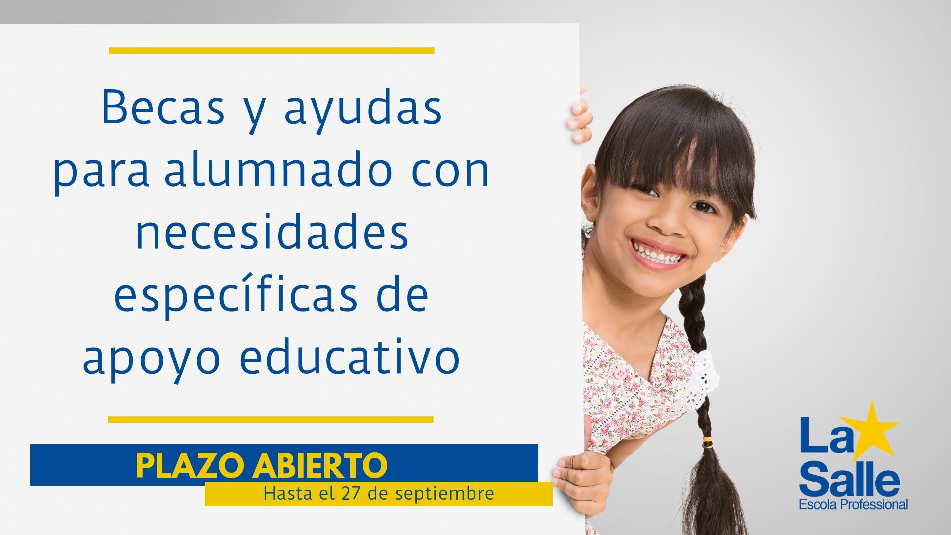 Ayudas para alumnado con necesidades específicas de apoyo educativo