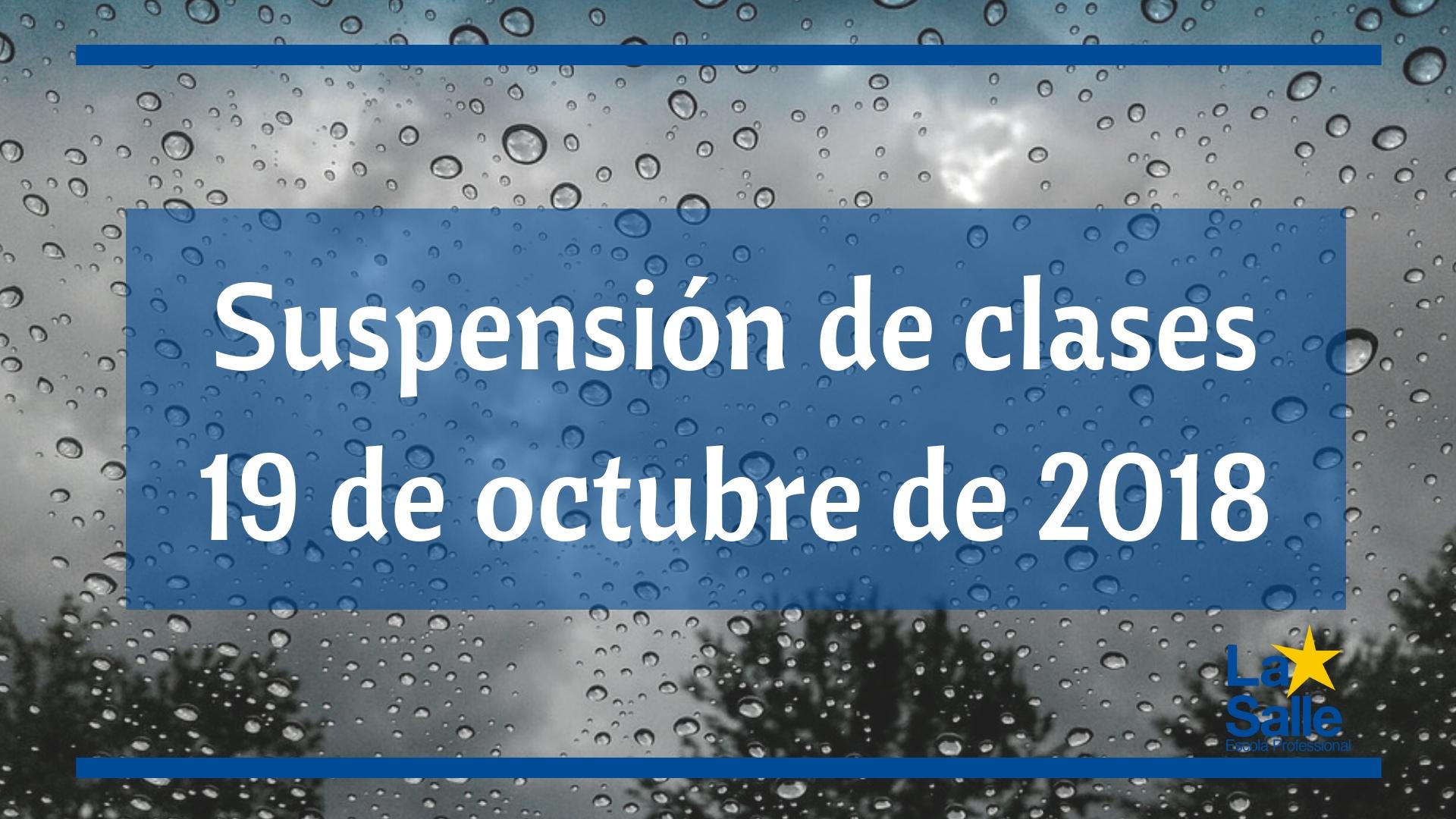 Suspensión de clases día 19 de octubre