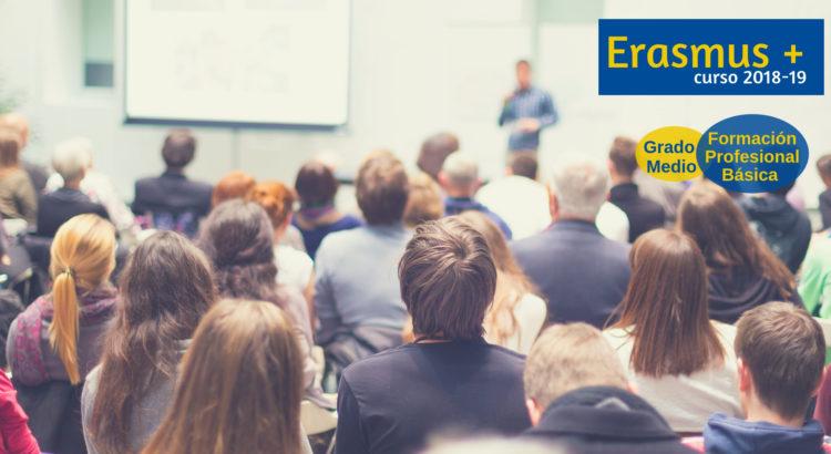 La Escuela Profesional oferta movilidades Erasmus + para el curso 2018/2019 en Formación Profesional