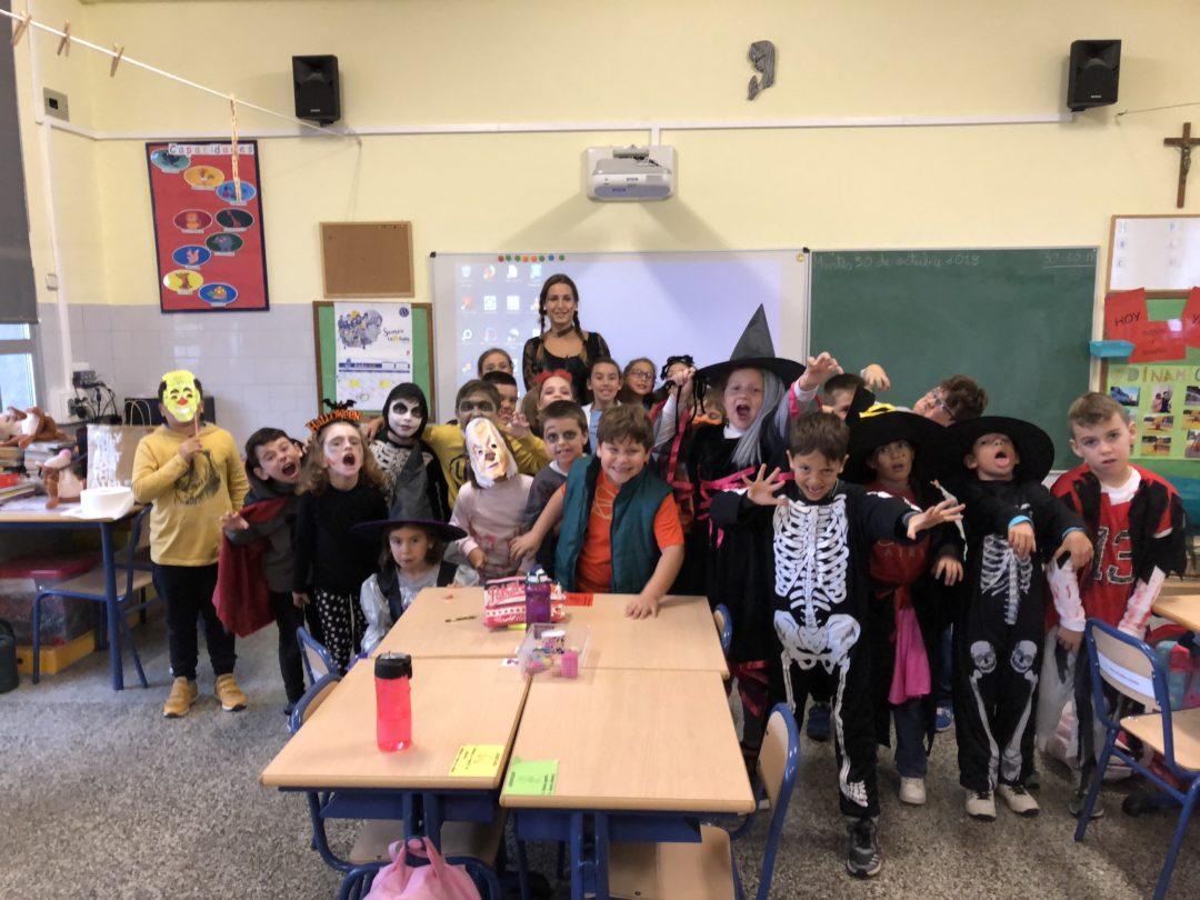 Halloween en clase de inglés de primaria
