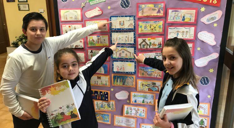 Infantil y Primaria realizan postales navideñas