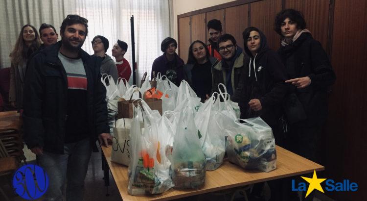 Exitosa campaña de recogida de alimentos y productos de higiene personal en la Escuela Profesional La Salle