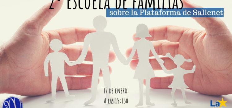 Escuela de familias el próximo 17 de enero sobre la Plataforma SALLENET