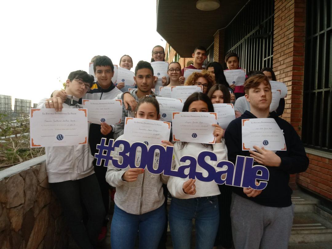 Entrega de premios a los ganadores de los concursos del 300 Aniversario de La Salle