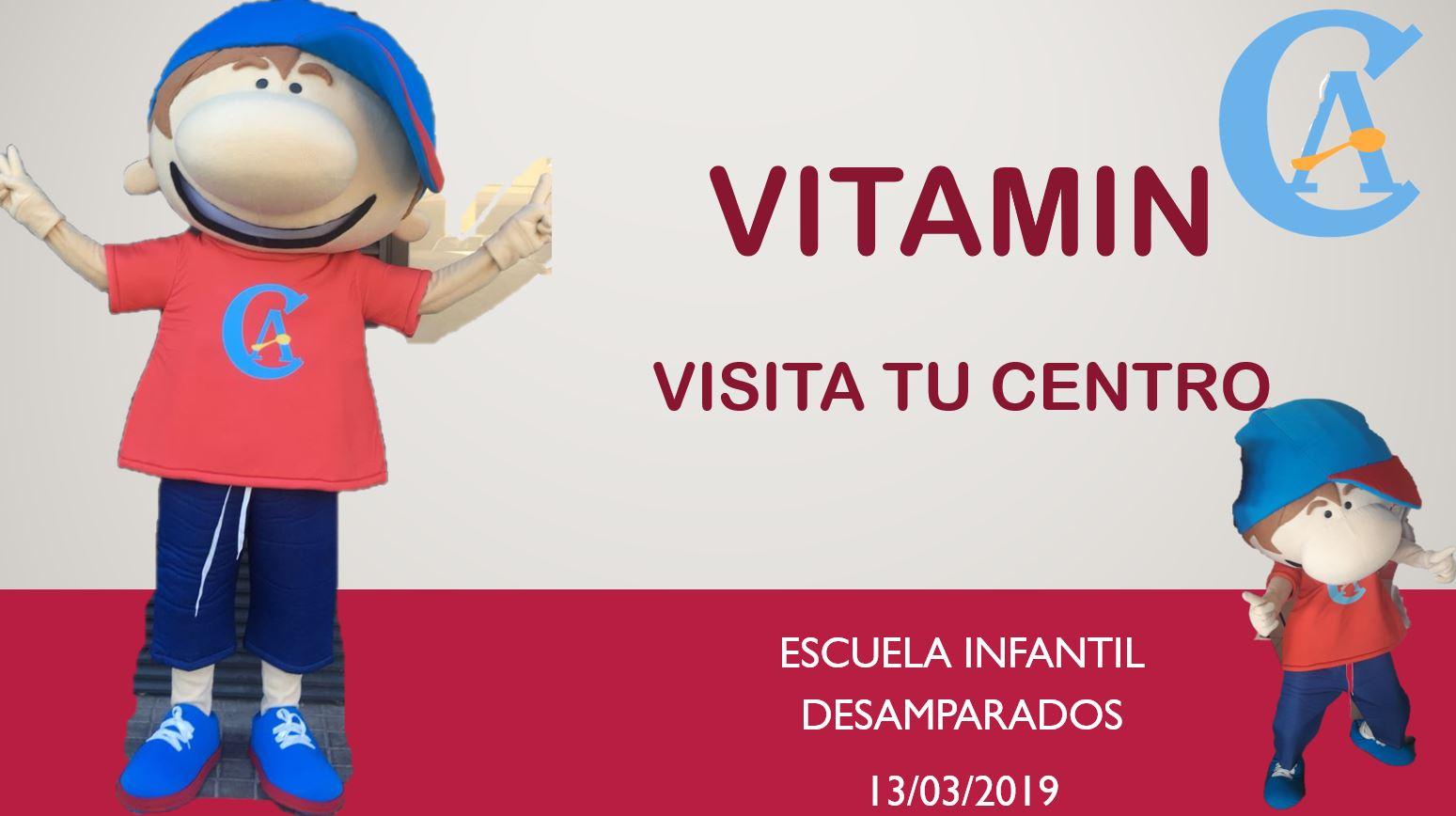 Vitamin visitará a los alumnos de la Escuela Infantil Desamparados el próximo miércoles