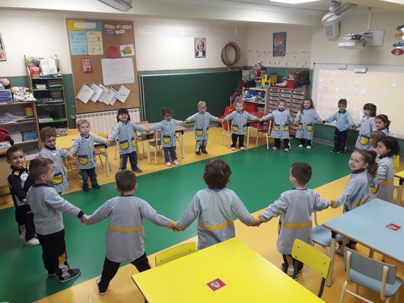 Matemáticas manipulativas en el aula de 3 años