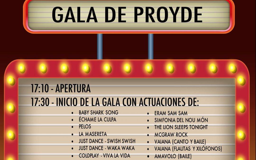 ¡Este viernes os esperamos en la Gala Solidaria en beneficio de PROYDE!