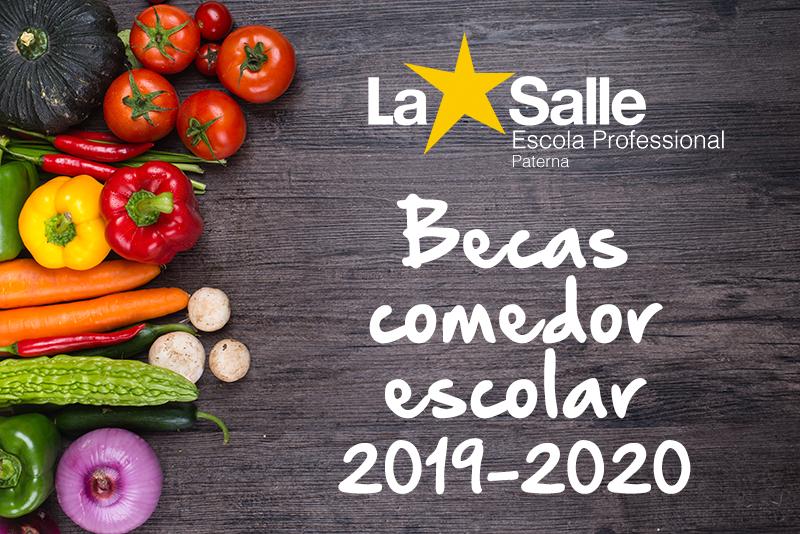 Beca comedor escolar curso 2019-2020