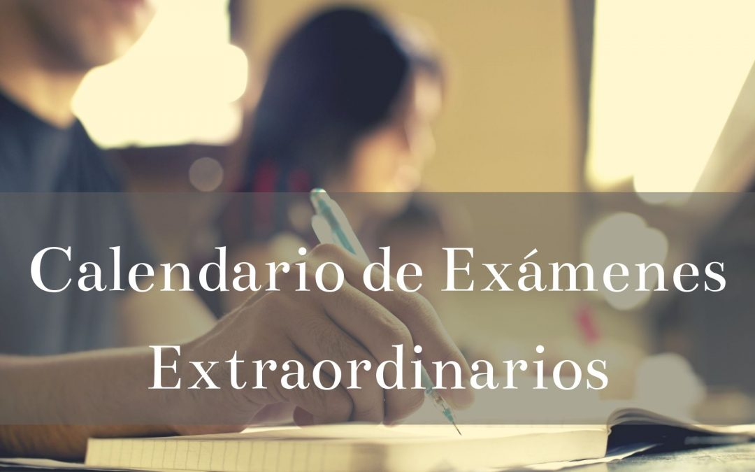 Calendario de exámenes extraordinarios de ESO