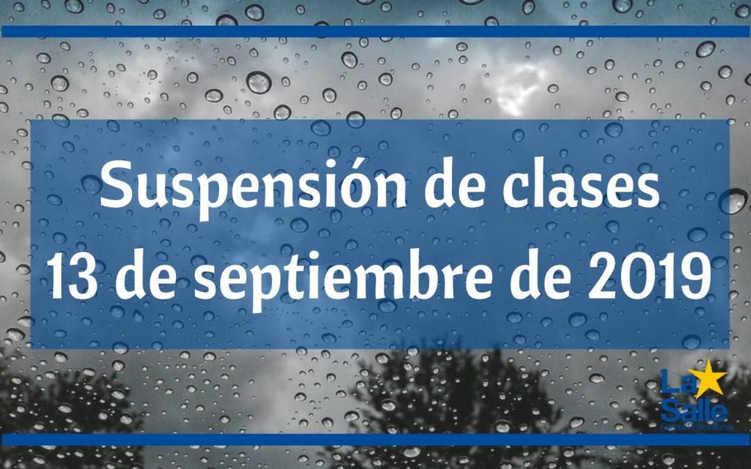 Suspensión de clases el día 13 de septiembre