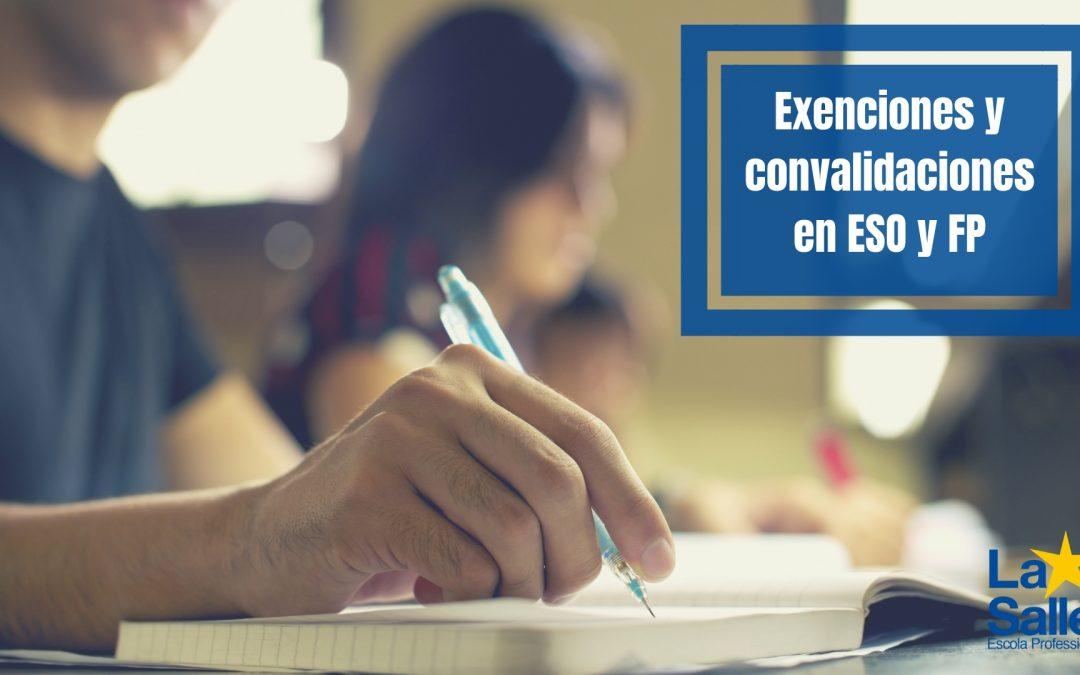 Exenciones y Convalidaciones en ESO y FP