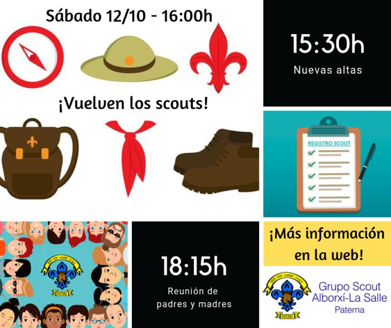 El Grupo Scout Alborxí-La Salle comienza el 12 de octubre la ronda 2019-2020