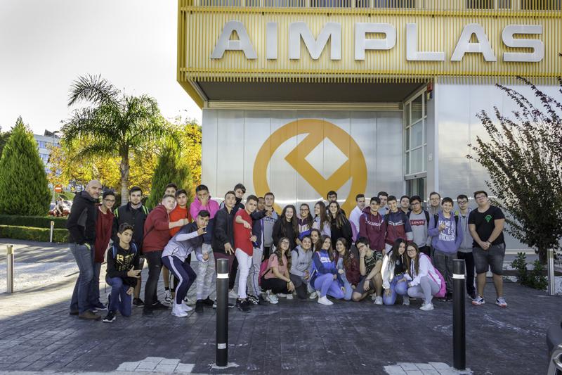 Alumnos de tecnología visitan el Instituto Tecnológico del Plástico, Aimplas