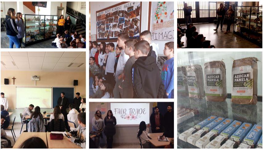 Los alumnos de 2º de Gestión Administrativa dan a conocer el Comercio Justo en las aulas de la Escuela