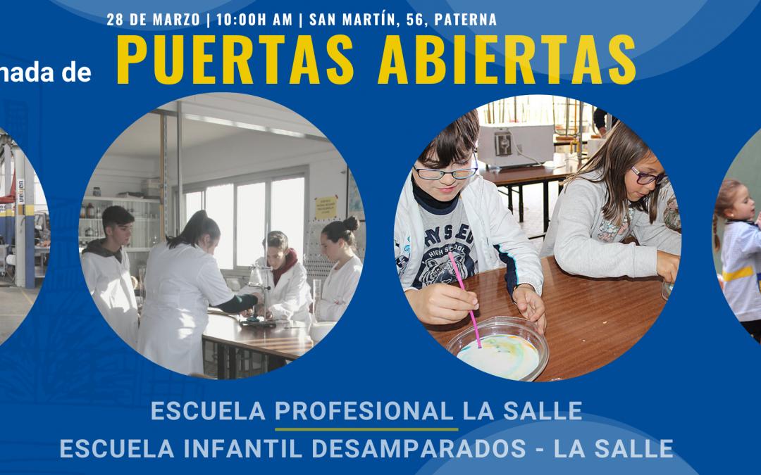 La Escuela Profesional La Salle y la Escuela Infantil Desamparados celebran una Jornada de Puertas Abiertas el próximo 28 de marzo