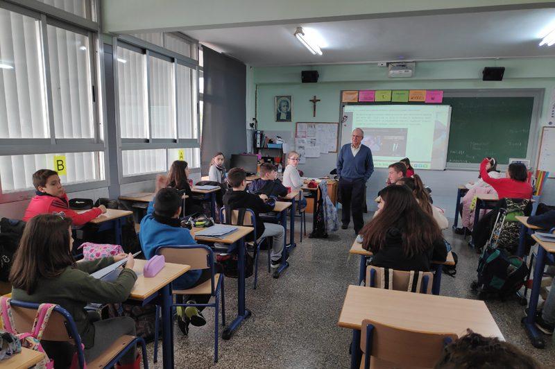 Visita del Hermano Pablo Herranz a la Escuela Profesional