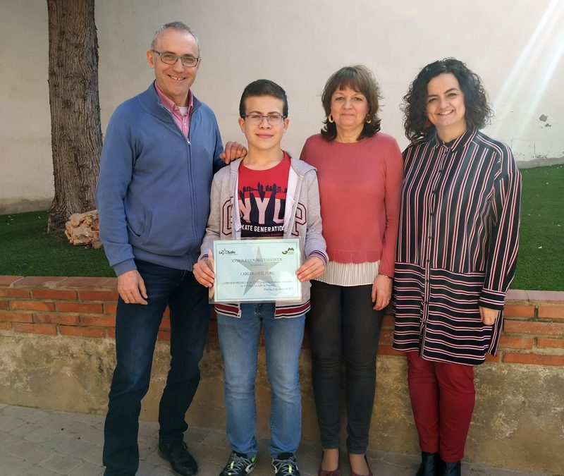 Un alumno de ESO gana el primer premio en los XVIII Juegos Matemáticos del Colegio La Salle en el nivel II