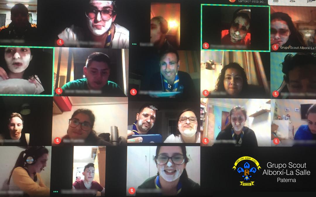 El Grupo Scout Alborxí-La Salle de Paterna se adapta a las circunstancias y realiza el Campamento de Pascua de forma virtual