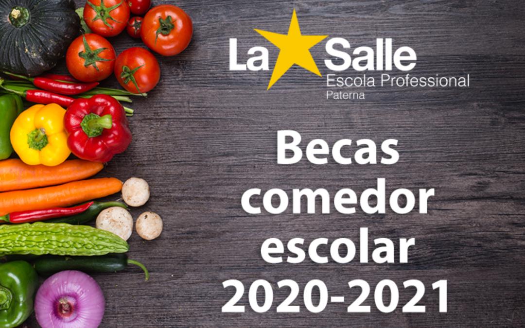Listado definitivo de beneficiarios de ayudas al comedor escolar para el curso 2020-2021