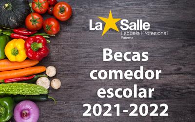 Plazo de solicitud de la Beca de Comedor Escolar para el curso 2021-2022 abierto